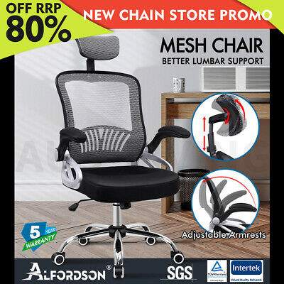 AU129.85 • Buy ALFORDSON Mesh Office Chair Executive Fabric Seat Gaming Racing Tilt Computer