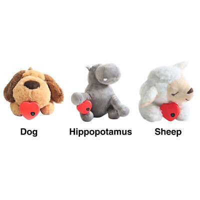 AU27.79 • Buy Soft Plush Puppy Behavioral Aid Toy Living Room Dogs Cats Bedroom With Heartbeat