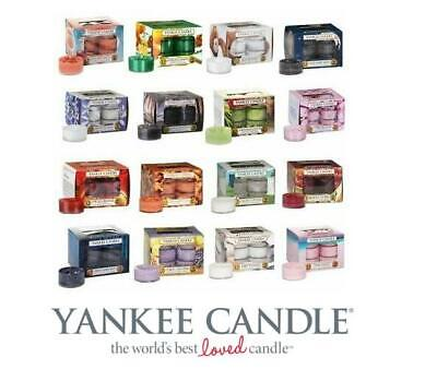 NEW Yankee Candle 2 X 12 Pack Of Scented Tealights - Many Fragrances • 14.95£