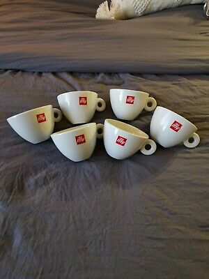£53.67 • Buy Illy Cappuccino Demitasse Cup 6oz Coffee Cup White Red Logo Germany Mitterteich