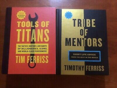 AU32.25 • Buy Tools Of Titans, Tribes Of Mentors Timothy Ferriss Business Money Health Books!!