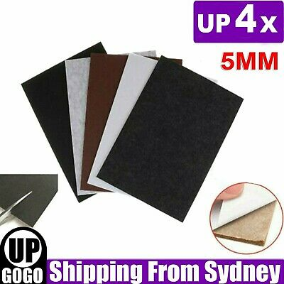 AU11.99 • Buy Up 4pcs Felt Pad Sheet Furniture Floor Protector Pads Self Adhesive 5mm A4 Sheet