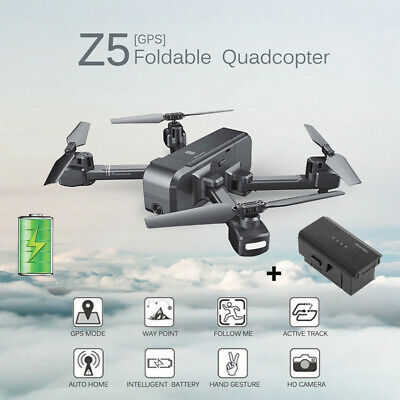 AU228.99 • Buy SJRC Z5 1080P Wide-angle Camera Wifi FPV GPS RC Drone Quadcopter+The Battery Set