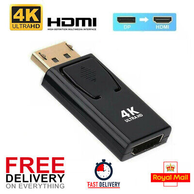 Display Port DP Male To HDMI Female Adapter Connector Converter For HDTV PC 4K • 4.99£