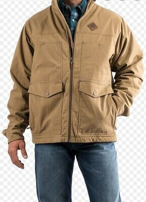 $80.49 • Buy Cinch Men's Fleece Lined Concealed Canvas Contender Tan Jacket Rugged 4XL New