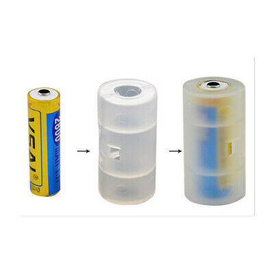 AU3.48 • Buy 4pcs Converter Battery Shell Holder Adapter Box AA To C Size Cell Durable Case