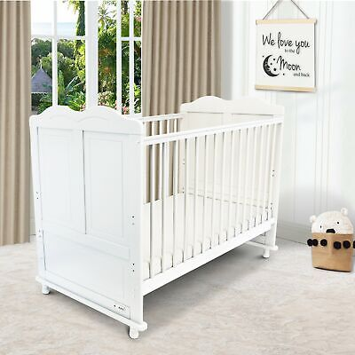 £99.95 • Buy ISafe Baby Cot Bed Toddler Bed Junior CotBed Adam (White) (Including Mattress)
