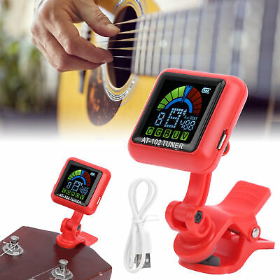 $ CDN17.25 • Buy Aroma Guitar Tuner Clip‑on Tuner DC5V USB Rechargeable For Violin Ukulele Guitar