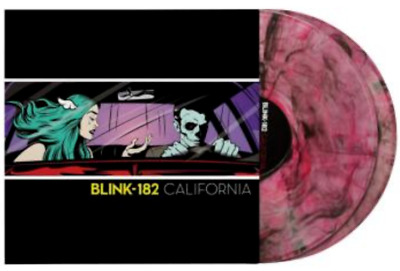 Blink 182 - California Deluxe Edition Black Pink Marble 2 Vinyl LP NEU 2000 WW • 129.17£