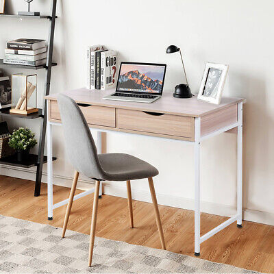 AU140.70 • Buy Office Computer Desk Study Table Metal Frame Drawer Storage Laptop Student Home