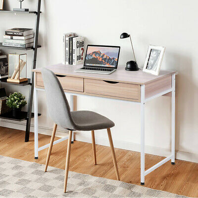 AU79.99 • Buy Office Computer Desk Study Table Metal Frame Drawer Storage Laptop Student Home