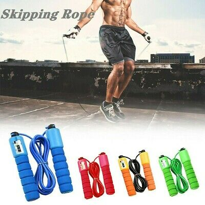AU8.66 • Buy Jump Skipping Rope Counting Speed Sweat-proof Fitness Gym Training Skip Rope