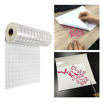Vinyl Transfer Paper Tape Roll Adhesive 12 X 60 Inch Clear Alignment Grid UK • 7.89£