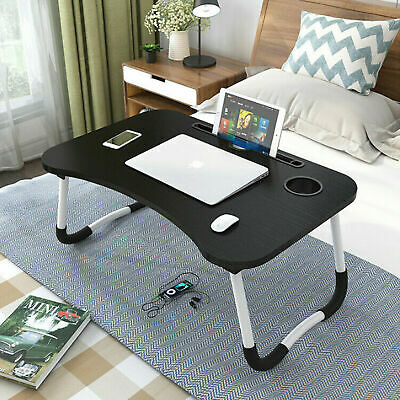 Portable Breakfast Serving Lap Tray Over Bed Table With Folding Legs Small Desk • 14.99£