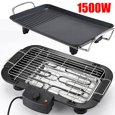 £21.40 • Buy Electric Table Top Grill BBQ Barbecue Pan Garden Camping Cooking Indoor Outdoor