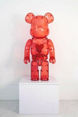 $2450 • Buy ❤️ Bearbrick 1000% Emotionally Unavailable Clear Red Heart - *IN HAND* FAST SHIP