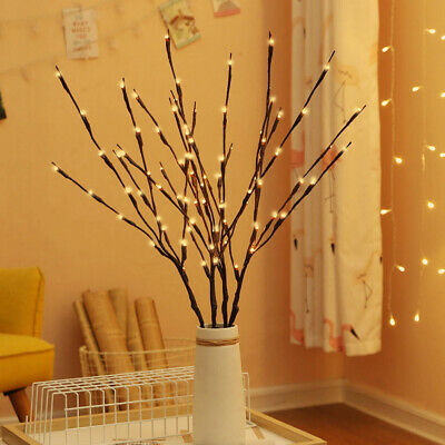 2Pcs 20LEDTree Branch Led Light Battery Powered Decor Willow Twig Branch Lights • 5.59£