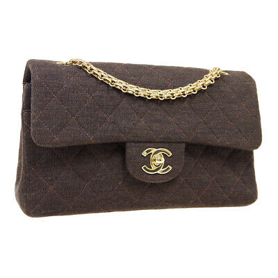 £3581.70 • Buy CHANEL Classic Double Flap Small Chain Shoulder Bag 6930308 Dark Brown 05438