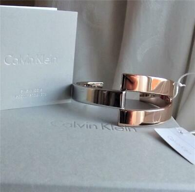 £27.99 • Buy Calvin Klein Stainless Steel & Rose Gold Plated Bangle Bnwt Box Rrp £119