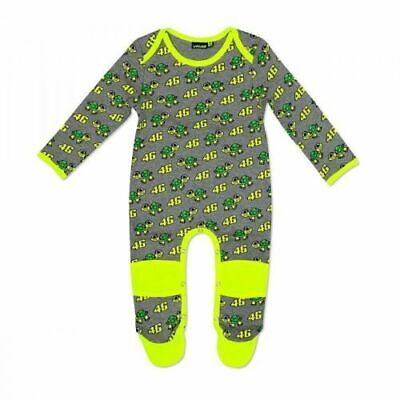 VR46 Official Valentino Rossi Grey Turtles Baby Grow Overall Suit • 16.99£