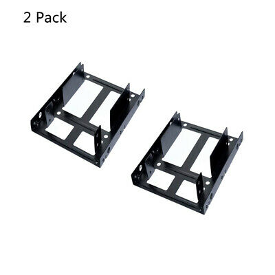 AU9.54 • Buy HDD SSD Bracket 2.5 To 3.5 Adapter SSD HDD Bracket Hard Drive Holder (2 Pack)