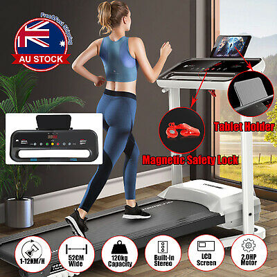 AU299 • Buy Electric Foldable Silence Treadmill Home Gym Exercise Fitness Machine1-12KM/H