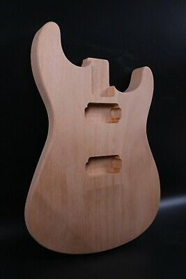 $85 • Buy New Guitar Body Mahogany Wood DIY Strat Guitar Replacement HH Style Bolt On Heel