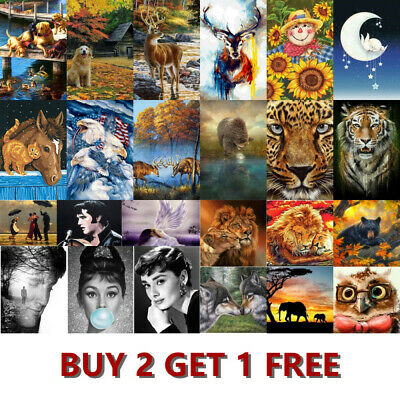 AU14.99 • Buy 5D DIY Diamond Painting Drill Embroidery Kits Art Cross Stitch Decor Gifts Mural