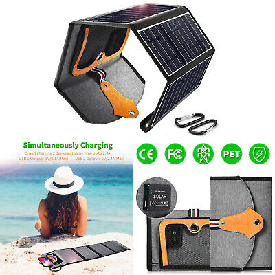 £53.81 • Buy CHOETECH Dual USB Solar Panels Charger Charging For IPhone 11/11 Pro Max/XS/8