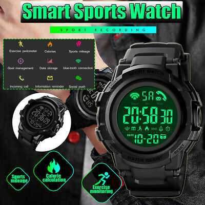 £19.99 • Buy SMART WATCH Mens Digital Military Style Sports Bluetooth Wrist SKMEI ANDROID IOS