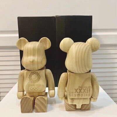 $239.99 • Buy Street Art Style 400% Hot Sale Bear Brick Tokyo 2020 Wood Action Figure Toys Gif
