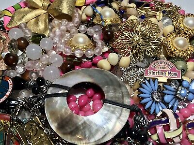 $ CDN75 • Buy Beautiful Vintage And Modern Jewelry Lot, Full Wear 520g Some Signed, 925 Chain