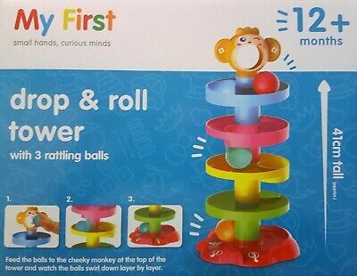 £7.20 • Buy My First Drop & Roll Tower Approx 41cm Tall Baby Toddler Toys Playset 12 Months+
