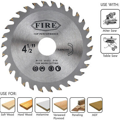 £2.69 • Buy 115mm30T Mill Chain Circular Saw Blade Disc Bore Wood Cutting Fits Angle Grinder