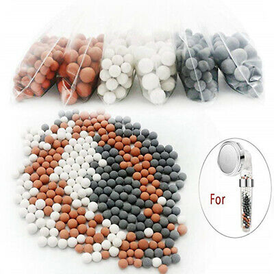 50g SPA Mineral Balls Water Filter Refill Stones Beads For Handheld Shower Heads • 2.49£