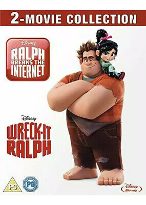 Wreck-It Ralph And Ralph Breaks The Internet Double Pack Blu Ray New • 10£