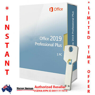 AU79.99 • Buy MS Office Professional Plus 2019 Retail OEM DVD & Product Key 1 PC *Sealed Pack*