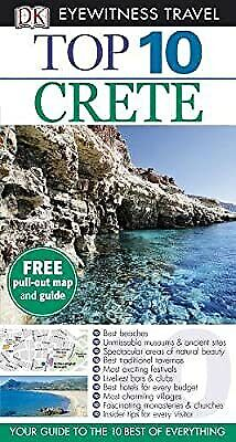 DK Eyewitness Top 10 Travel Guide: Crete, Gauldie, Robin, Used; Good Book • 2.29£