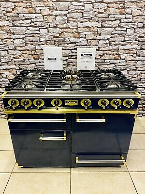 Falcon Range Cooker 110 Dark Blue & Brass Full Gas (natural Gas) With Wok • 1,295£