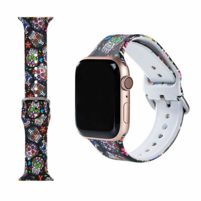 $ CDN7.33 • Buy A++ For Apple Watch IWatch Band Series 6 5 4 3 2 1 Halloween Skull Strap 38-44mm