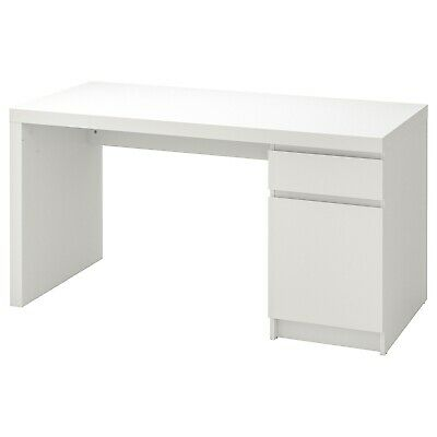 IKEA Malm Computer Desk Drawer Home Office Furniture 140x65cm • 184.99£