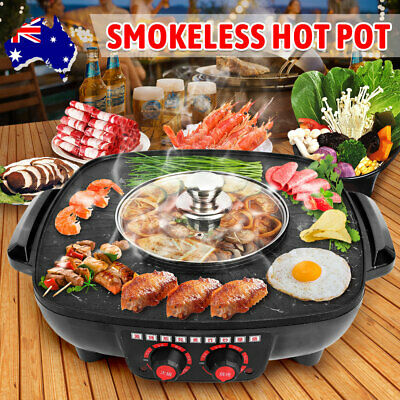 AU39.95 • Buy Portable Electric BBQ Grill Hot Pot Pan Plate Shabu Oven Boil Cook Barbecue OZ