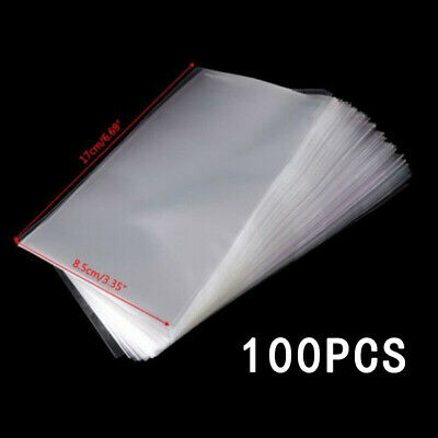 100Pcs Paper Money/Stamps Sleeves Clear Banknote Collection&Protect Storage Bags • 7.75£