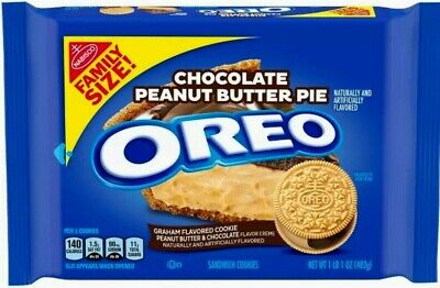 NEW Nabisco Oreo Chocolate Peanut Butter Pie Cookies FAMILY SIZE FREE SHIPPING • 17.97£