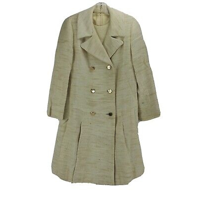 £26.19 • Buy Vtg NWT 60's  Jackie O  Coat And Dress Suit Texture Wool/Silk Fabric Union Made