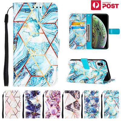 AU13.99 • Buy For IPhone 12 11 Pro SE 8 7 Plus XS Max XR Case Marble Leather Wallet Filp Cover