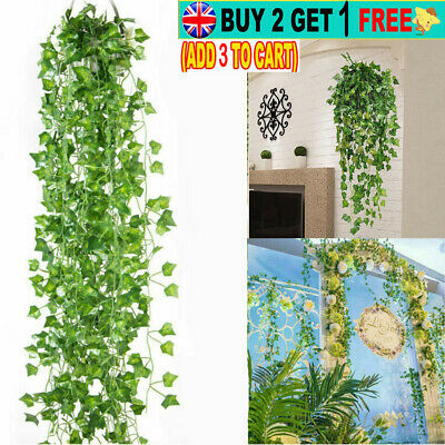 7ft Artificial Fake Ivy Hanging Vine Plants Leaves Flowers For Home Garden Decor • 8.87£