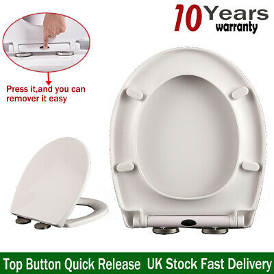 £15.50 • Buy Soft Close Toilet Seat Smart Self Closing O Shape Oval Quick Release Automatic