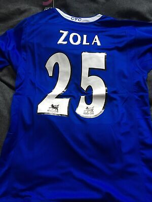 £40 • Buy Gianfranco Zola Chelsea Shirt  Retro New With Tags Size M