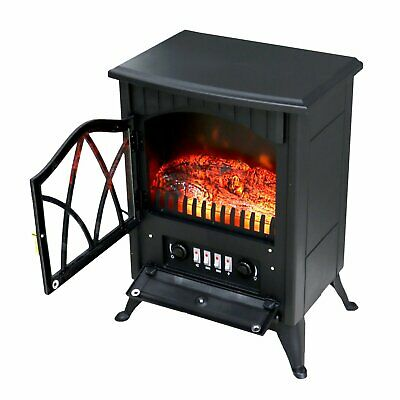 1850W Electric Fireplace Log Burning Flame Effect Stove Heater With Thermostat • 66.64£